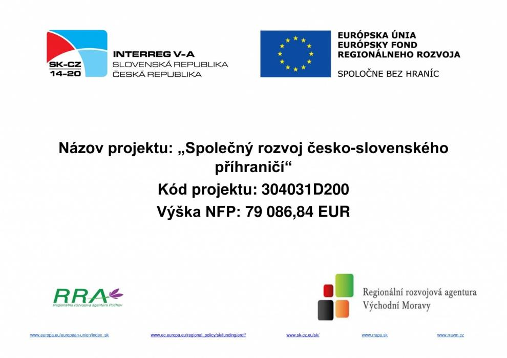 Společný rozvoj česko-slovenského přihraničí